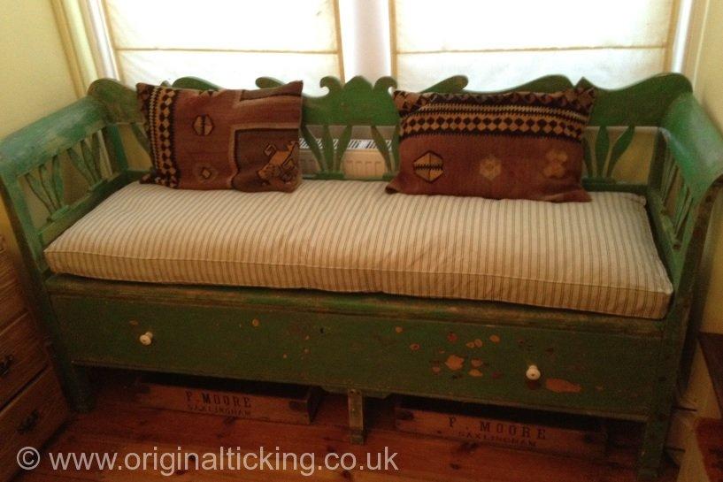 bespoke handmade bench and window seat cushions