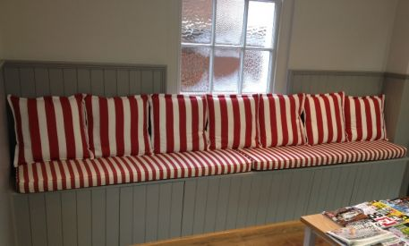 Made to measure bench and window seat cushions handmade in england - Made to measure bench seating ...
